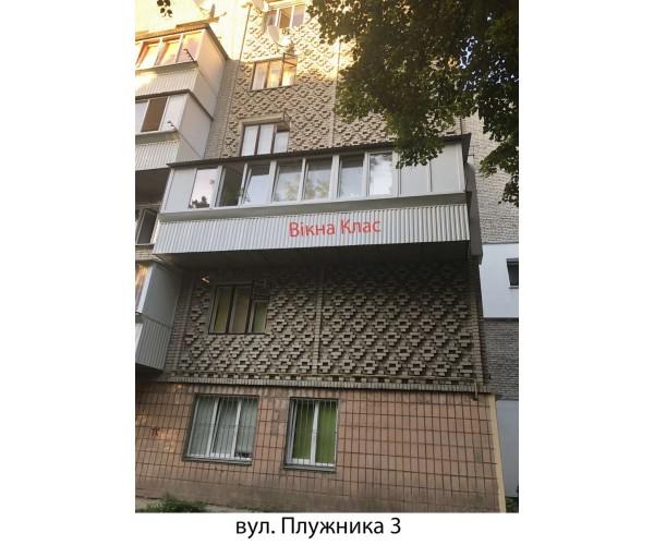 Балкон заливкою плити 011