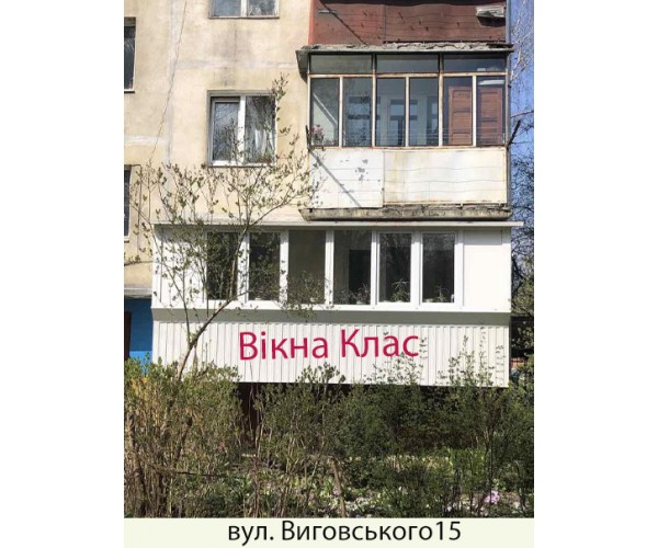 Балкон заливкою плити 015