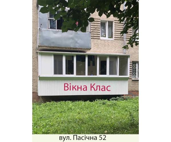 Балкон заливкою плити 019