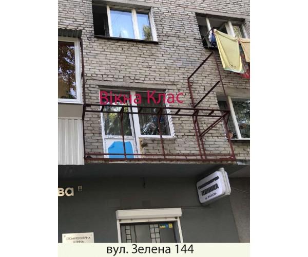 Балкон заливкою плити 020