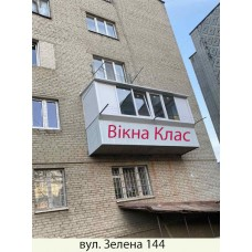 Балкон заливкою плити 021
