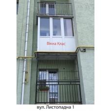 Балкон засклений 015