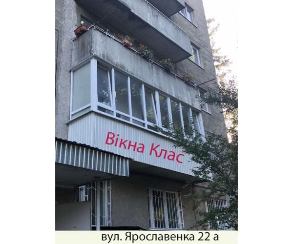 Балкон засклений 016