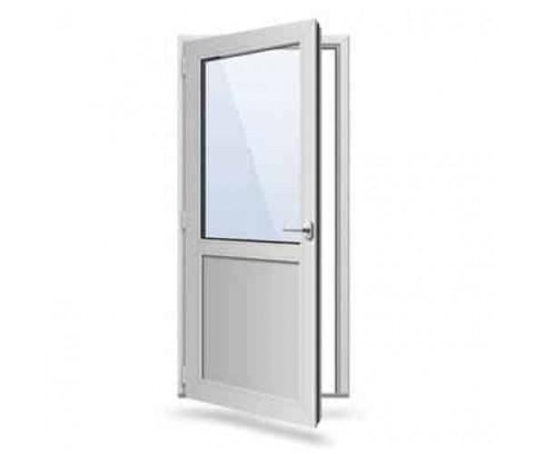 Двері одинарні металопластикові 870 х 2100
