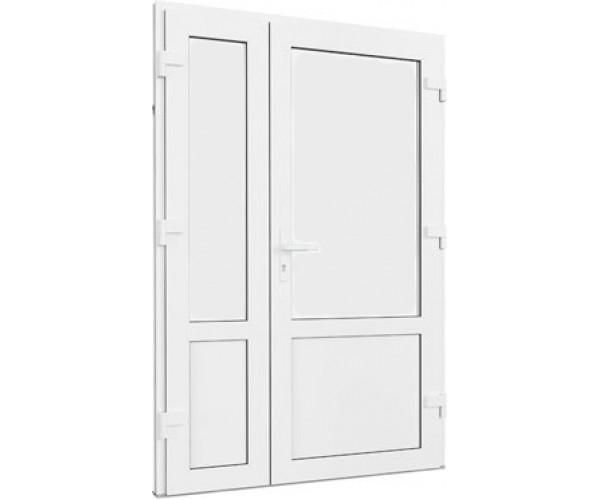 Двері подвійні металопластикові глухі 1170 х 2100