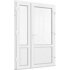 Двері подвійні металопластикові 1170 х 2100