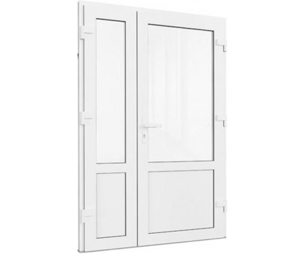 Двері подвійні металопластикові 1300 х 2050