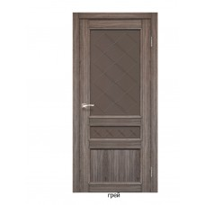 Двері міжкімнатні Італійські КЛ-05 (скло бронза)