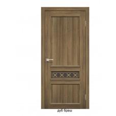 Двері міжкімнатні Італійські КЛ-07 (скло бронза)