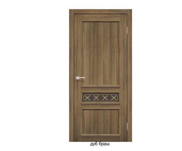 Двері Італійські КЛ-07 (скло бронза)