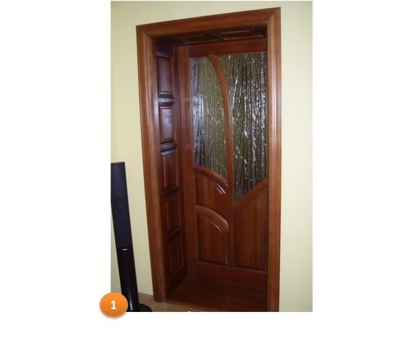 Двері 001 масив модрина