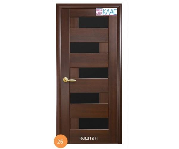 Двері міжкімнатні Ніка №26 (чорне скло)