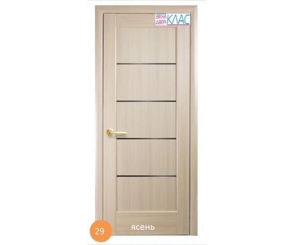 Двері міжкімнатні Ніка №29 (чорне скло)