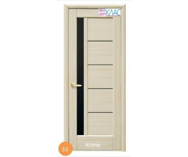 Двері міжкімнатні Ніка №33 (чорне скло)