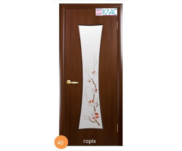 Двері міжкімнатні Ніка №40 (скло)