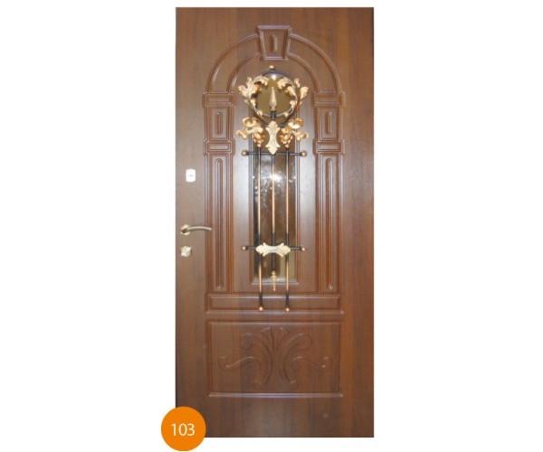 """Двері вхідні вуличні """"Еліт"""" модель 103"""