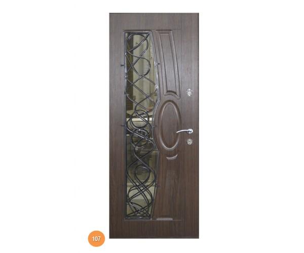 """Двері вуличні """"Еліт"""" модель 107"""