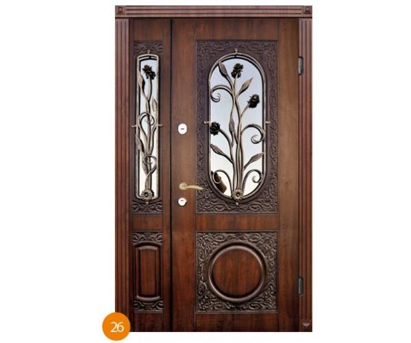 """Двері вхідні вуличні """"Еліт"""" модель 026"""