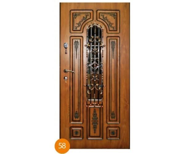 """Двері вхідні вуличні """"Еліт"""" модель 058"""