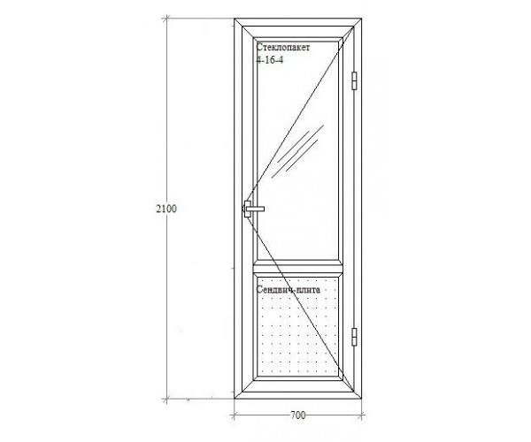 Балконні двері з відкриванням Salamander-Brugmann 5-кам.