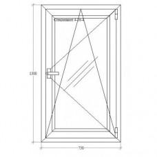Одинарне вікно з відкриванням-нахилом Salamander-Brugmann 5-кам.