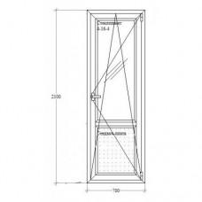 Балконні двері з відкриванням-нахилом Salamander-Brugmann 5-кам.