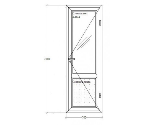 Балконні двері з відкриванням Viknaland 4-кам. Ассado