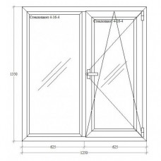 Подвійне вікно з відкриванням-нахилом Salamander 4-кам.
