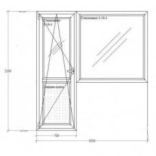 Балконний блок Green Trend 4-кам. Ассado