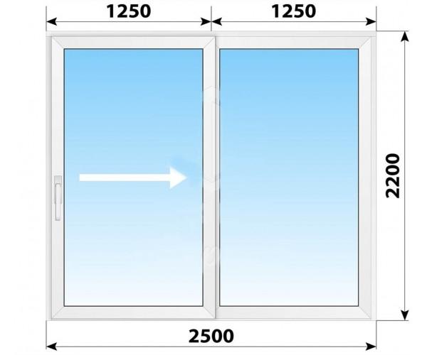 Пластикові розсувні двері 2500x2200