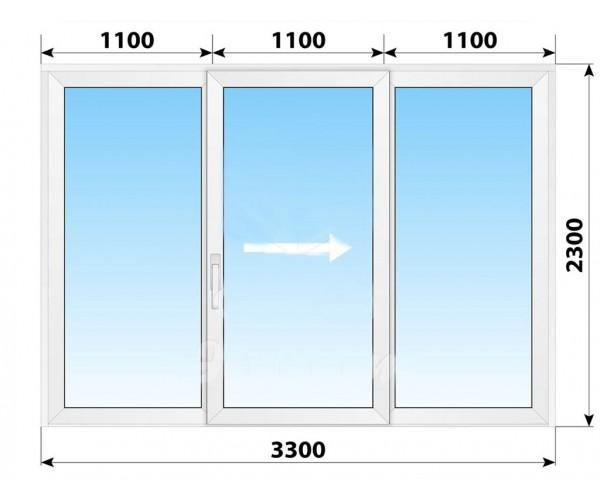 Пластикові розсувні двері 3300x2300