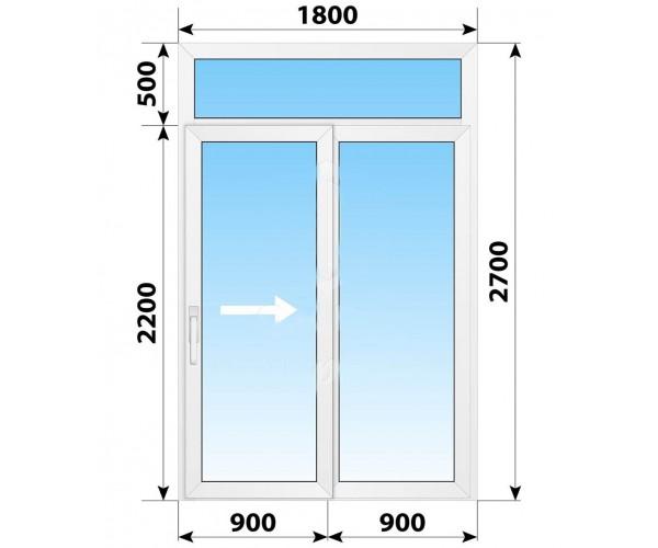 Пластикові розсувні двері 1800x2700