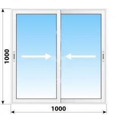 Пластикове розсувне вікно 1000 х 1000