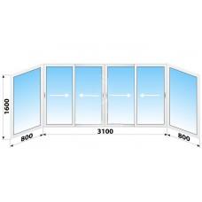 Пластикове розсувне вікно 4700 х 1600