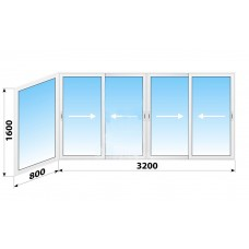 Пластикове розсувне вікно 4000 х 1600