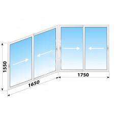 Пластикове розсувне вікно 3400 х 1550